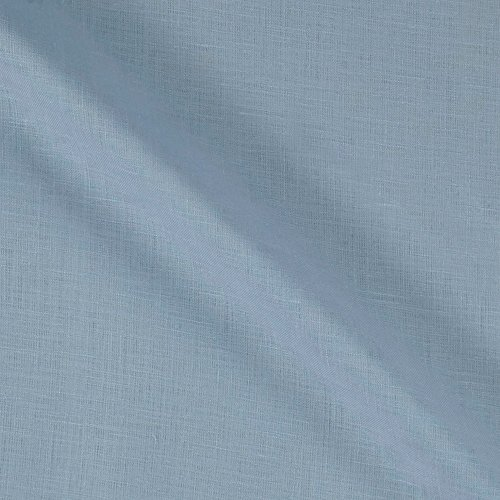 Lino Textile 0562476 100% European Handkerchief Linen Ice Blue Fabric by the Yard ()