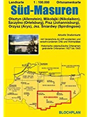 Landkarte Süd-Masuren: Olsztyn (Allenstein), Mikołajki (Nikolaiken), Szczytno (Ortelsburg), Pisz (Johannisburg), Orzysz (Arys), Jez. Śniardwy ... Orzysz (Arys), Jez. Sniardwy (Spirdingsee): 8