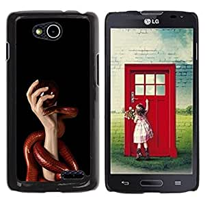 LECELL -- Funda protectora / Cubierta / Piel For LG OPTIMUS L90 / D415 -- Red Snake & Hand --