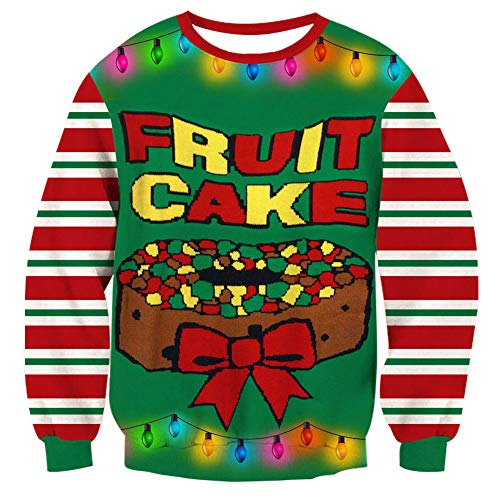 Goodstoworld Big Ugly Xmas Candy Sweater Men's Merry