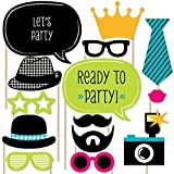 Big Dot of Happiness Ready to Party - Photo Booth Props for Kids - 20 Count