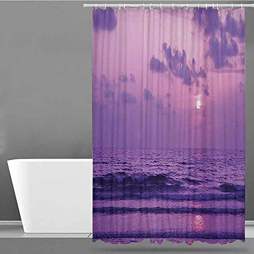 XXANS Shower Curtain,Ocean Decor Collection,Waterproof Colorful Funny,W55x84L Lavender Lilac