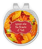 RNK Shops Fall Leaves Golf Ball Marker - Hat Clip