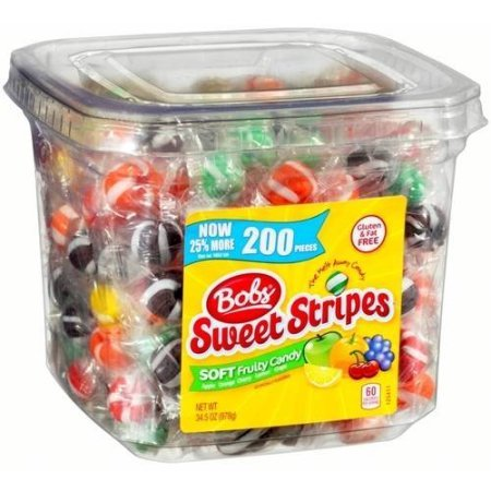 PACK OF 6 - Bob's Sweet Stripes Soft Fruit Candy, 34.5 oz (200 count) by _Bob's (Image #2)