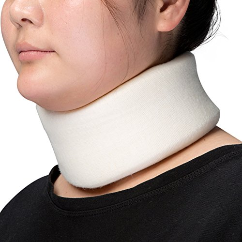 Medibot Soft Foam Cervical Collar Neck Support Brace for Sleeping Neck Pain Relief White M by Medibot