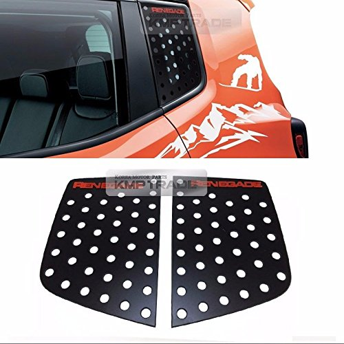C Pillar Window Glass Quarter Panel Sports Plate Molding Red Logo For JEEP 2015 2016 2017 Renegade KMPtrade
