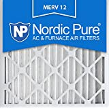 Nordic Pure 24x24x2M12-3 MERV 12 Pleated Air Condition Furnace Filter, Box of 3