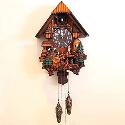 Amazon.com: Reloj De Pared Relojes Música De Objetos De Decoración De Salón Mensaje Mute En Horas De Madera Wall Clock (Color : A, Size : 88cmX38cm): Home & ...