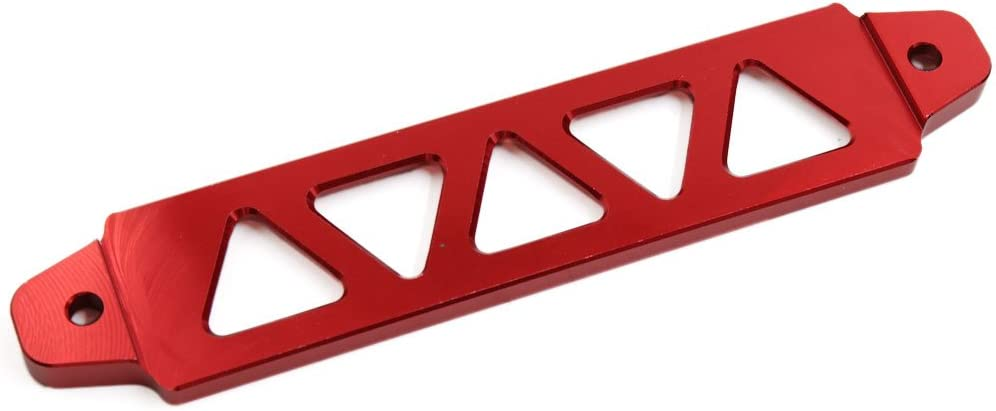uxcell 220mm Length Red Aluminum Alloy Racing Car Battery Tie Down Bracket Holder