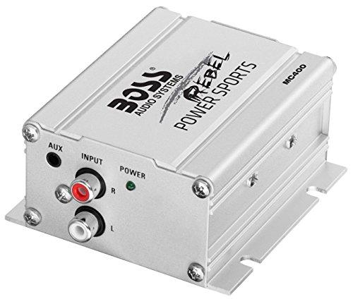 "BOSS MC400 Chrome 600 Watt Motorcycle//ATV Sound System 3/"" Speakers Amplifier Amp"