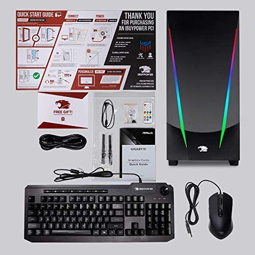 iBUYPOWER Pro Gaming PC Computer Desktop Trace 4 93G730 (AMD Ryzen 5 3600 3.6GHz, NVIDIA GeForce GT 730 2GB, 8GB DDR4 RAM, 240GB SSD, WiFi Ready, Windows 10 Home)