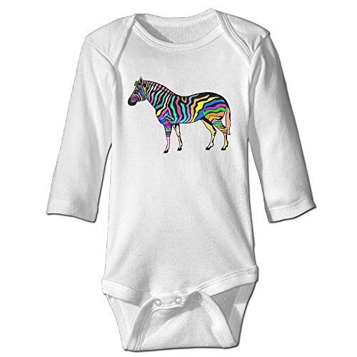 Price comparison product image Pattern colorful Zebra Animal Baby's Long Sleeve Comfortable Bodysuit (Bottom 3 Buttons)