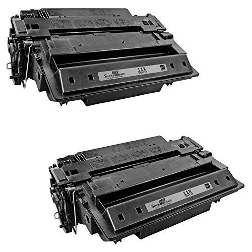 Speedy Inks - 2pk Remanufactured Replacement for HP 11X Q6511X High-Yield Black Laser Toner Cartridge for use in LaserJet 2420, LaserJet 2420d, LaserJet 2420dn, LaserJet 2420n, LaserJet 2430