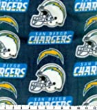 San Diago Chargers Fleece Handcrafted Blanket with FREE Matching Pillowcase