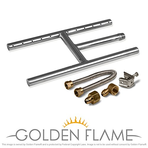 12 X 6 Natural Gas Fire Pit And Fireplace H Burner 304 Series Ss W Connection Kit