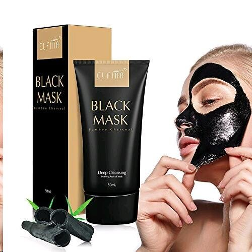 ELFINA Black Mask Purifying Peel Off Mask, Pore Blackhead Extractor, Blackhead Remover Mask, 50ML