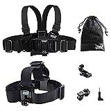 EEEKit Gift Pack For VTech Kidizoom Kid Action Cam/DROGRACE Children Kids Camera,Head Strap Mount,Junior Child Kid Chest Body Harness Mount,Neck Strap,Storage Bag ??