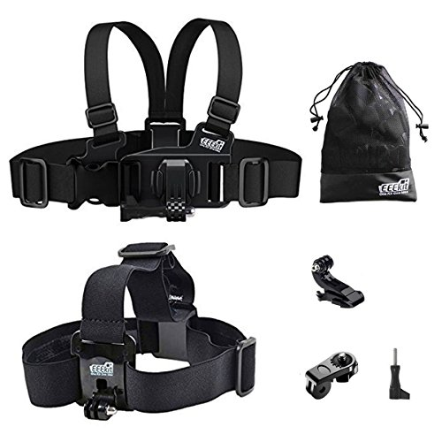 EEEKit Gift Pack For VTech Kidizoom Kid Action Cam/DROGRACE Children Kids Camera,Head Strap Mount,Junior Child Kid Chest Body Harness Mount,Neck Strap,Storage Bag - Xe Full Com