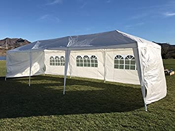 Palm Springs Outdoor 10 x 30 Wedding Party Tent Canopy with 5 Sidewalls & Amazon.com : Palm Springs Outdoor 10 x 30 Wedding Party Tent ...