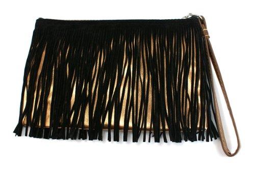 edge-i-wear-fashion-leatherette-wristlet-clutch-gold-with-black-fringe-p1-01fg-gblk