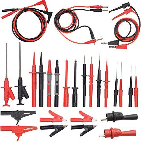 Diagnostic Test Set (Whole Set Multimeter Test Lead Kits Set Essential Automotive Electronic Connectors Cables Hand Tool Battery Tester & Auto Diagnostic Tools)