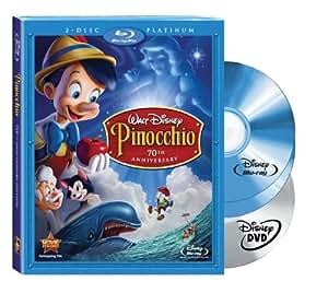 Pinocchio (Two-Disc 70th Anniversary Platinum Edition Blu-ray/DVD Combo + BD Live) [Blu-ray]