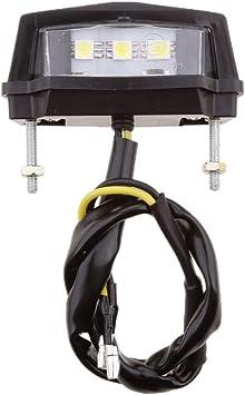 Sharplace Luce Targa Fanale Posteriore Portatarga 3 LED Luminoso Universale Motocicletta