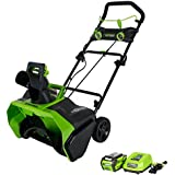 Greenworks 20-Inch 40V Cordless Snow Thrower, 4.0 AH Battery Included 26272