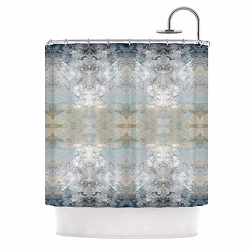 "KESS InHouse Pia Schneider ""Heavenly Bird III"" Blue Pattern Shower Curtain, 69 by 70"" from Kess InHouse"