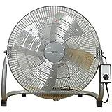 広電(KODEN) 45cmアルミ羽根工業扇風機 (床置き型) 上下手動首振り シルバー KSF4575-S