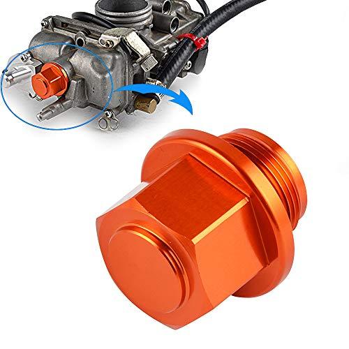 Nicecnc Orange MX Carburetor Sump Drain Bolt Plug Cap & O-ring Replace ALL Motorcycles ATVs with Keihin FCR KEIHIN PJ,PWM,PE & PWK Carb,Honda,Suzuki,Kawasaki,Yamaha,KTM ()