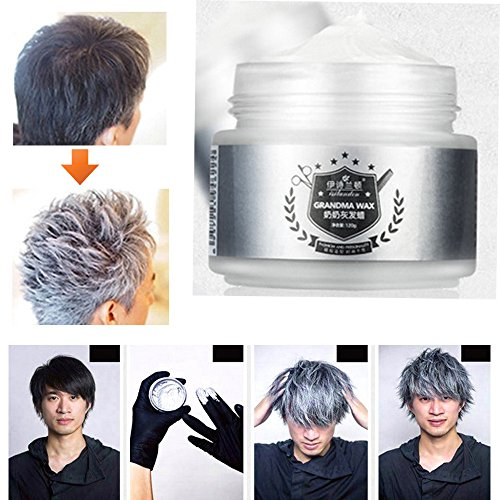 Popular Unisex Silver Grey Wax hair model Pomade Long-lasting Hairstyle