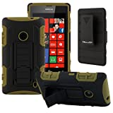 Nokia Lumia 520 Case, CellJoy® [Future Armor] (Army Green) Hybrid Ultra Fit Dual Protection **Kick Stand** Cover Skin with Belt Clip Holster For Nokia Lumia 520 At&t GoPhone