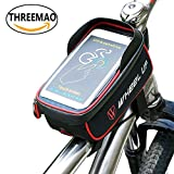 THREEMAO Bike Bag Waterproof Bike Top Tube Bag Cycling Front Frame Bag...