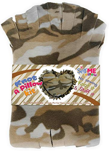 DIY Personalized No-Sew Pillow Camo Design, Craft Project for Kids and Adults, Girls and Boys. Great Gift for Military, Army, Marine, Veteran. SelfME Pillow Craft Kit ()