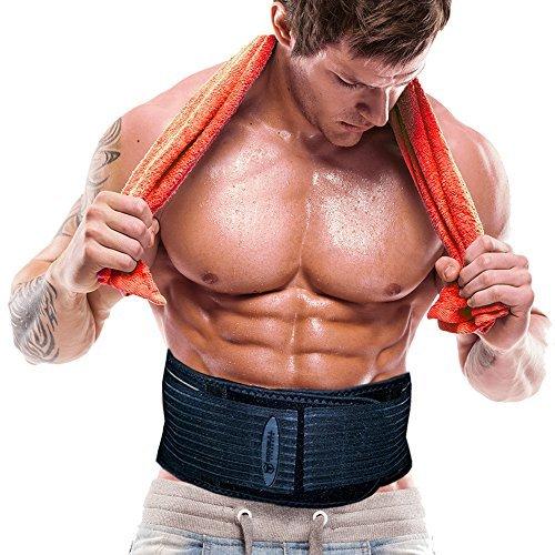 Iron Bull Strength The Shred Belt - Waist Trimmer Belt, Belly Fat Burner, Toning Belt, Spot Reduction Belt, Waist Slimmer, Fat Reducer (Medium)