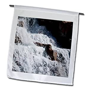 Jos Fauxtographee Realistic - The waterfall in Mesquite, Nevada - 18 x 27 inch Garden Flag (fl_59564_2)