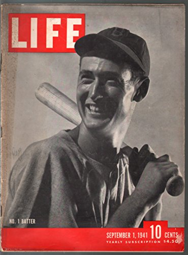 Life 9/1/1941-Ted Williams cover and photo ()
