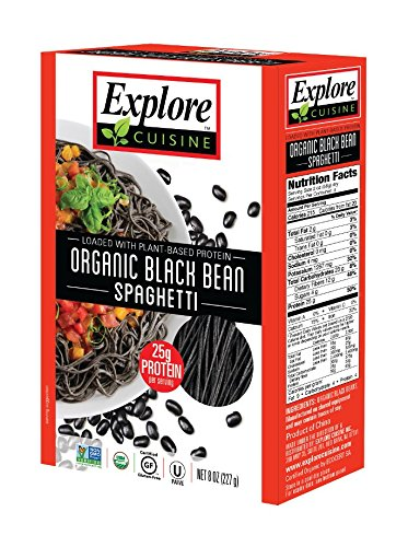 Beans Black Vegan (Explore Cuisine Organic Black Bean Spaghetti 8 oz (Two-Pack) Vegan and Gluten Free)