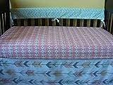 Woodland Tribal Arrow Print Crib / Baby Bedding Bumperless Crib Set
