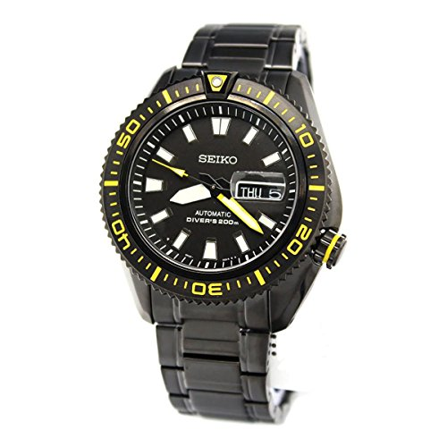 Seiko Superior Automatic Black Dial Black Ion-plated Mens Watch (5 Superior Automatic Mens Watch)