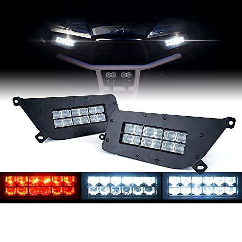 - Xprite 90W UTV High/Low Beam CREE LED Headlights With Red DRL for Polaris 2014-2016 RZR S900 S1000 RZRXP Turbo