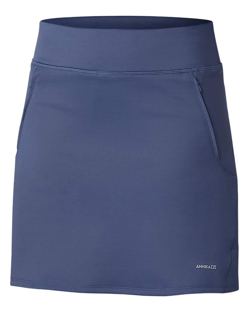 Cutter & Buck Women's Moisture Wicking Double Knit Stretch Interval Pull on Skort, Sport Slate, XX-Large by Cutter