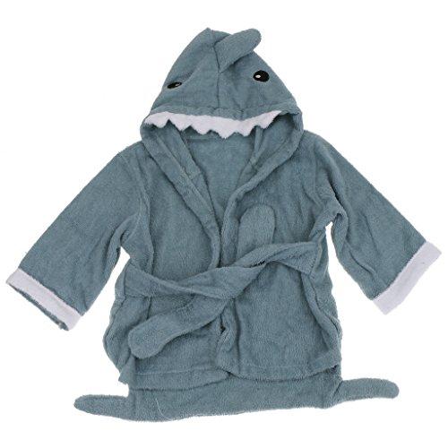 Kinder Frottee Bademantel Tier Baby Bademantel Mit Kapuze Entzückende Baby Bademantel Weicher Baumwolle Milchkuh - Blauhai