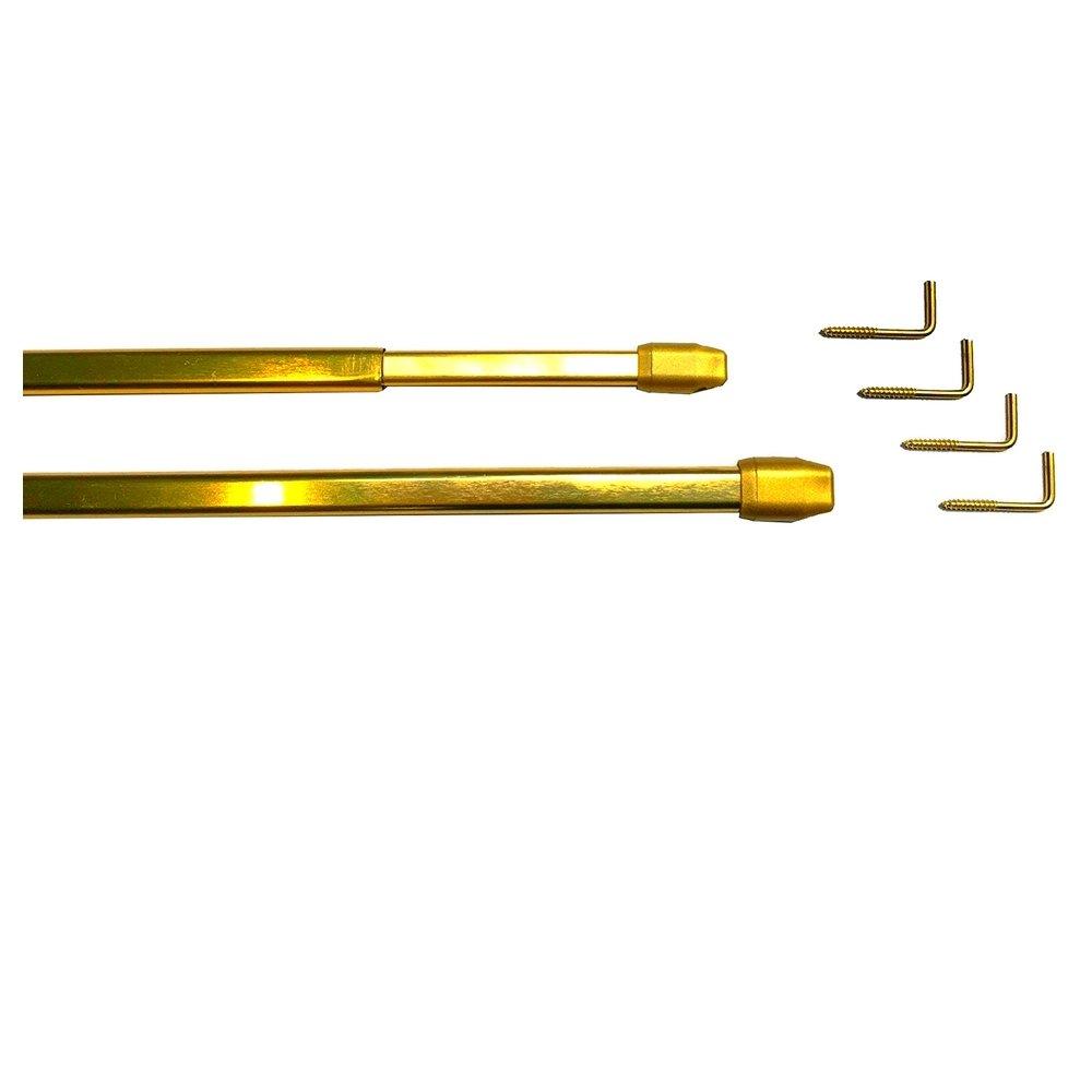 PRESSFIX Tringle Extensible Boule Couleur Dor/é 30 50 cm sans per/çage /Ø 10 mm Meilleures ventes