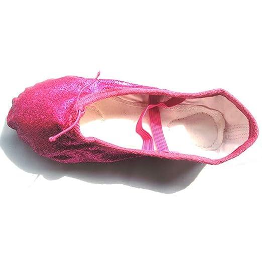 Sunbobo Zapatillas de Ballet para niñas pequeñas Zapatos de Baile para niños 3e287dca8a34