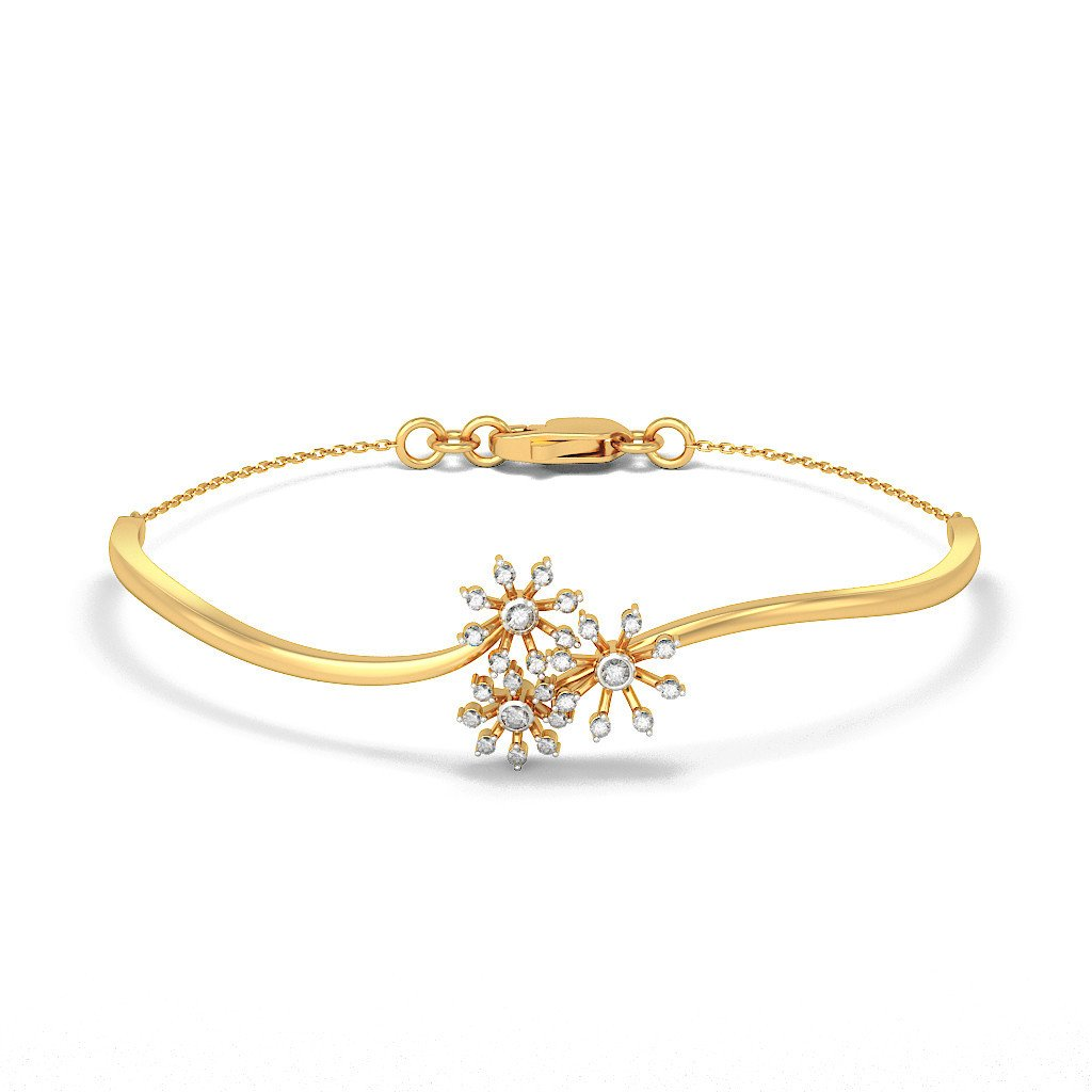 7.25 inches 0.325 cttw Round-Cut-Diamond identification-bracelets Size IJ| SI 18K Yellow Gold