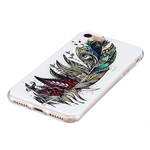 """iPhone 7 Schutzhülle , LH Feder TPU Weich Muschel Tasche Schutzhülle Silikon Hülle Schale Cover Case Gehäuse für Apple iPhone 7 4.7"""""""