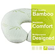 Supreme Bamboo Nursing Pillow for Baby Breastfeeding | Large 20  x 19  Cushion | Machine Washable Slip-On Protective Cover | Infant Support Pillow