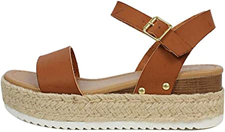 Ecolley Cute Sandals for Women Leather